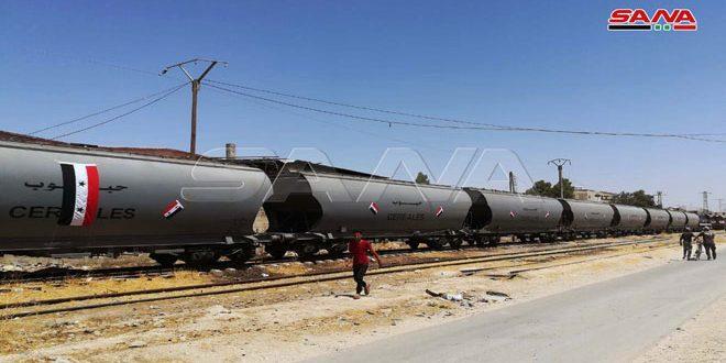Dokuz Yıl Aradan Sonra, Tartus Limanından Şam Kırsalına Tahıl Taşıyan İlk Tren Ulaştı (VİDEO)