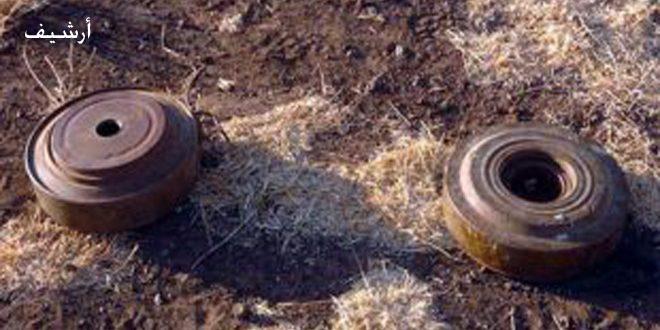 إصابة 3 أطفال بجروح بانفجار لغم من مخلفات الإرهابيين في قرية بريديج بريف حماة الشمالي الغربي