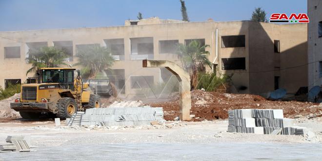 تأهيل 147 مدرسة متضررة جراء الإرهاب في درعا ووضعها في خدمة العملية التعليمية