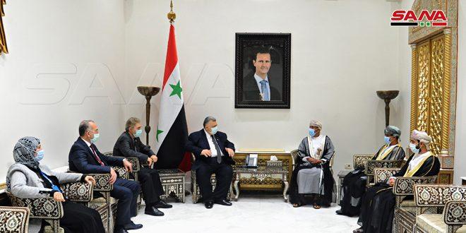 صباغ للسفير العماني: ضرورة تطوير العلاقات الأخوية بين سورية وعمان