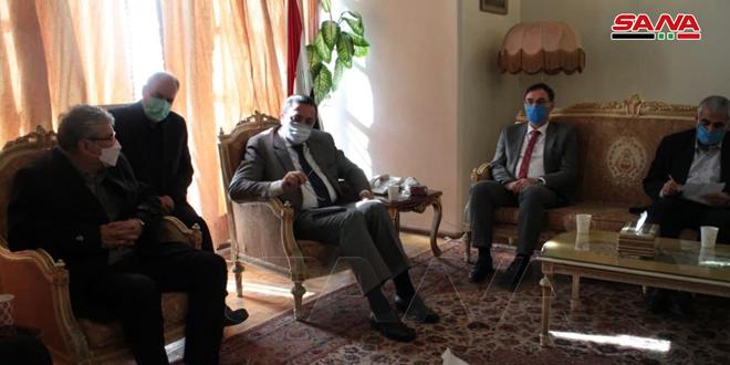 السفير ديوب يؤكد أهمية العلاقة الاستراتيجية بين سورية وإيران ومواصلة التعاون مع الأصدقاء في محاربة الإرهاب