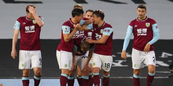 بيرنلي يفوز على فولهام في الدوري الإنكليزي لكرة القدم