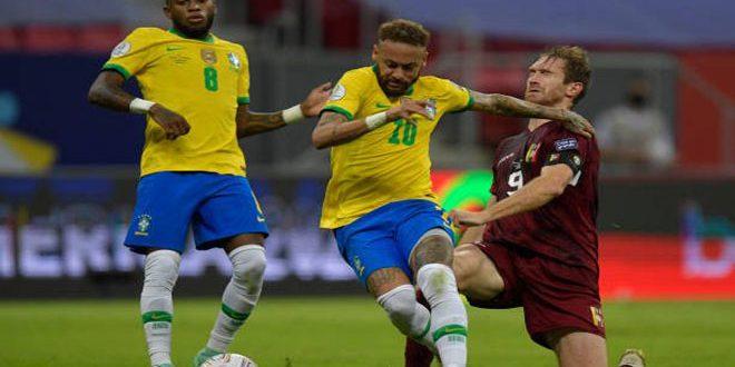 البرازيل تفوز على فنزويلا بثلاثة أهداف في بطولة كوبا أمريكا
